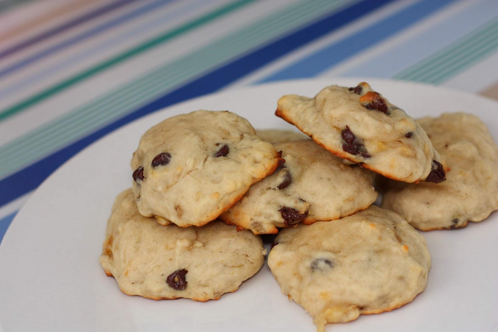 Banana Chocolate Chip Cookies - The Viet Vegan