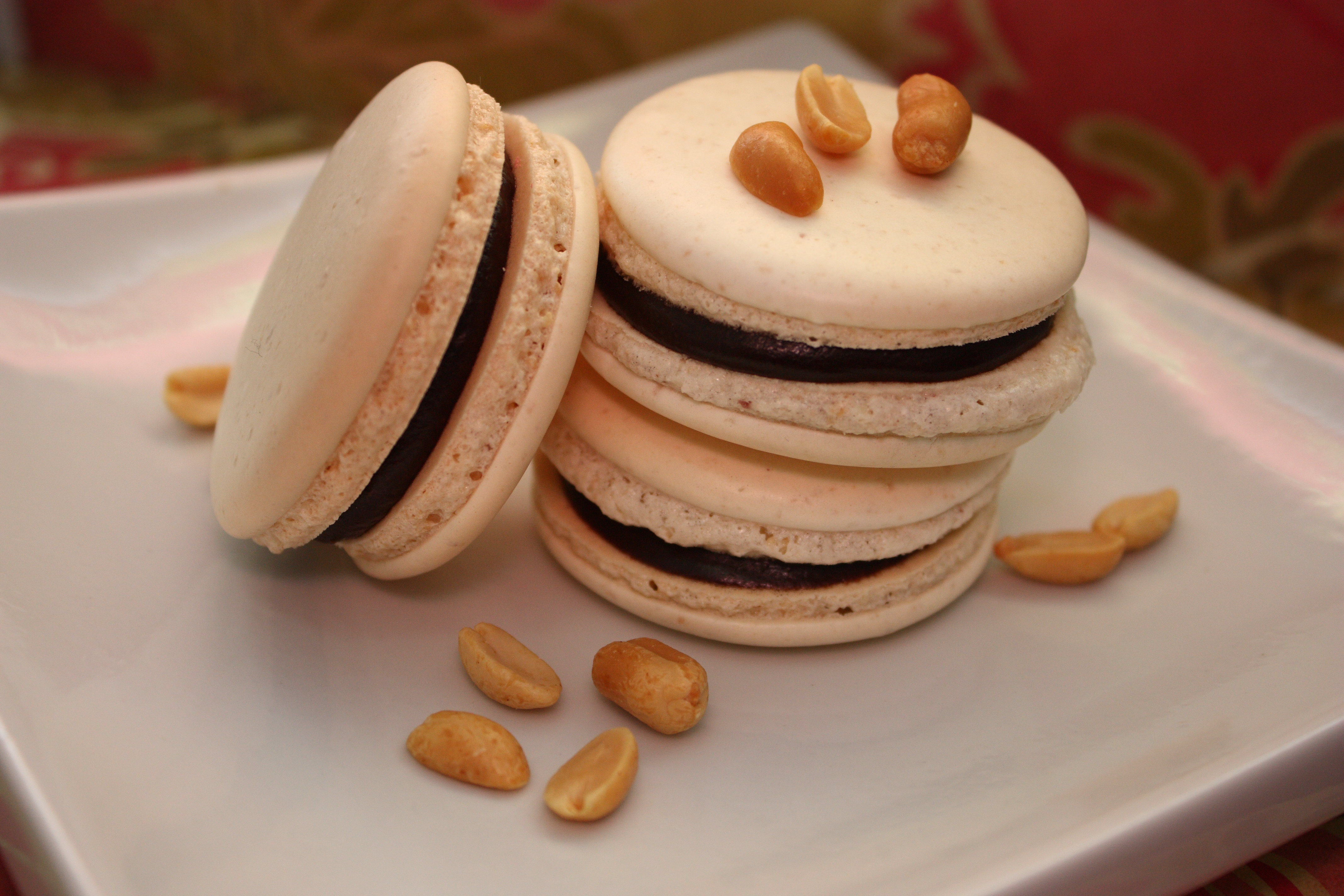 Peanut Butter and Chocolate Macarons
