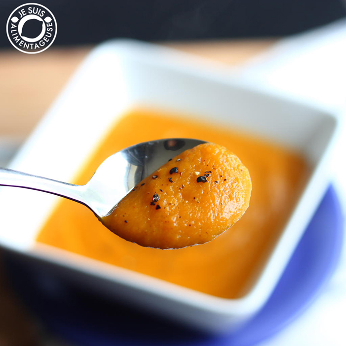 Butternut Squash and Carrot Soup | Je suis alimentageuse