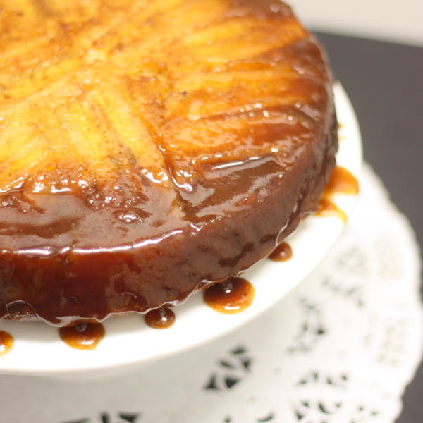 Banana Caramel Upside-Down Cake
