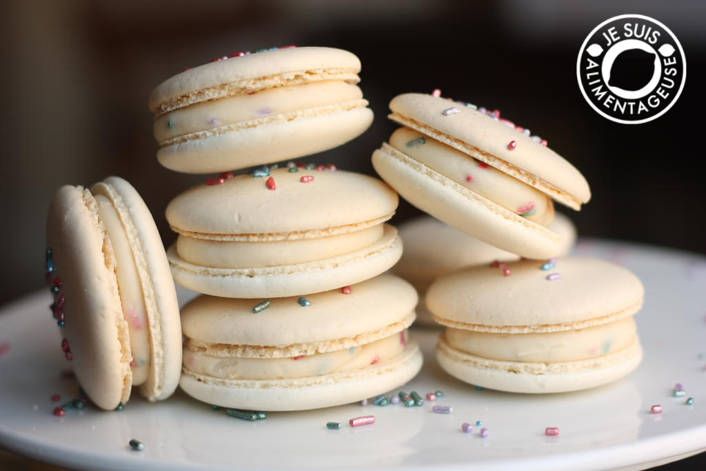 Birthday Sprinkle Macarons