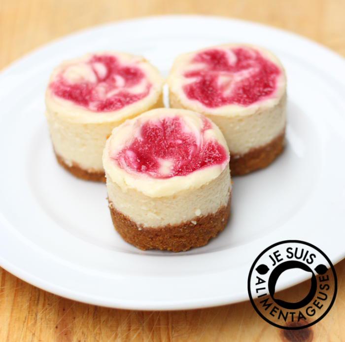 Raspberry Cheesecake Cupcakes | alimentageuse.com