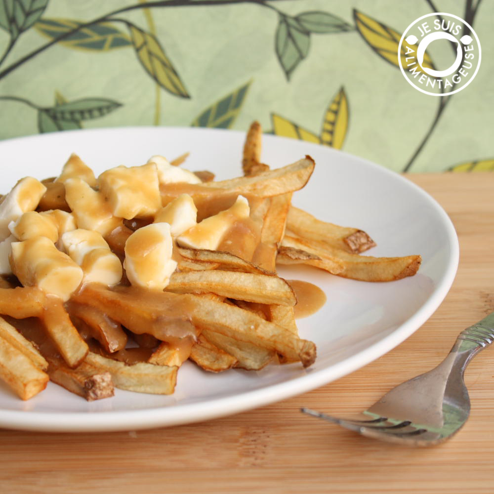 Vegetarian Poutine - alimentageuse.com #vegetarian #poutine #canadian