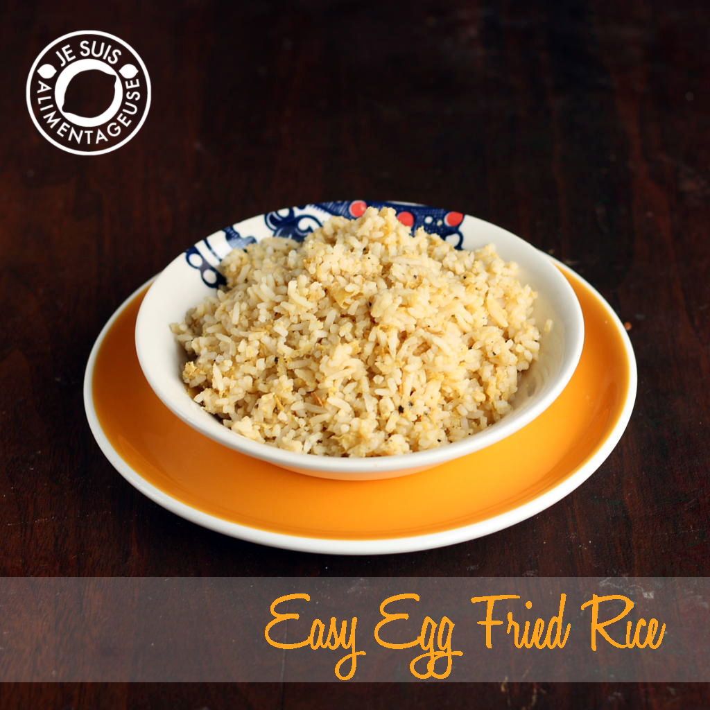 Egg fried rice cm chin je suis alimentageuse got leftover rice make easy egg fried rice to make soggy or dried up rice ccuart Image collections
