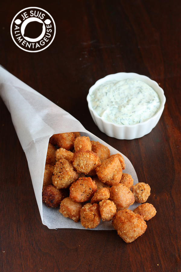 #Vegan Popcorn Chicken from alimentageuse.com #appetizers