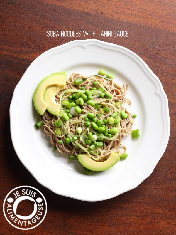Soba Noodles With Sesame Tahini Sauce A Perfect Noodle Salad That S Delicious Hot But