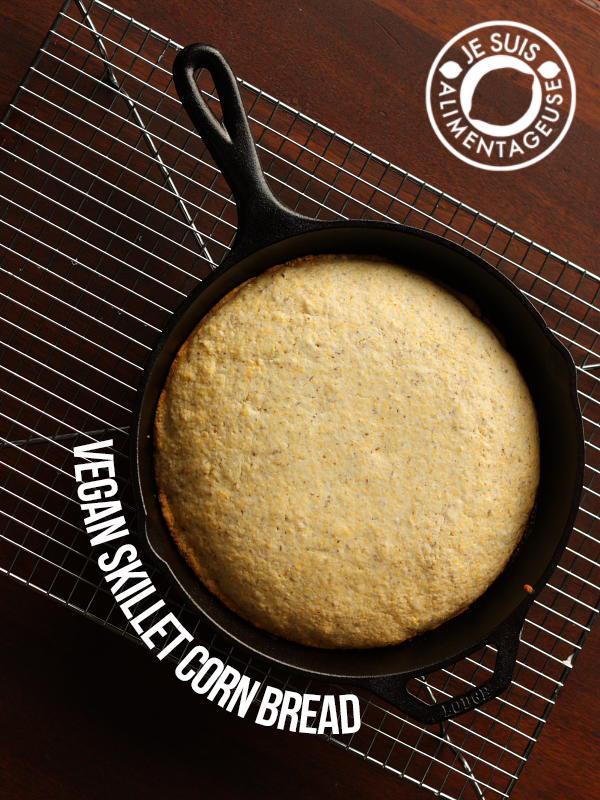 Vegan Skillet Cornbread