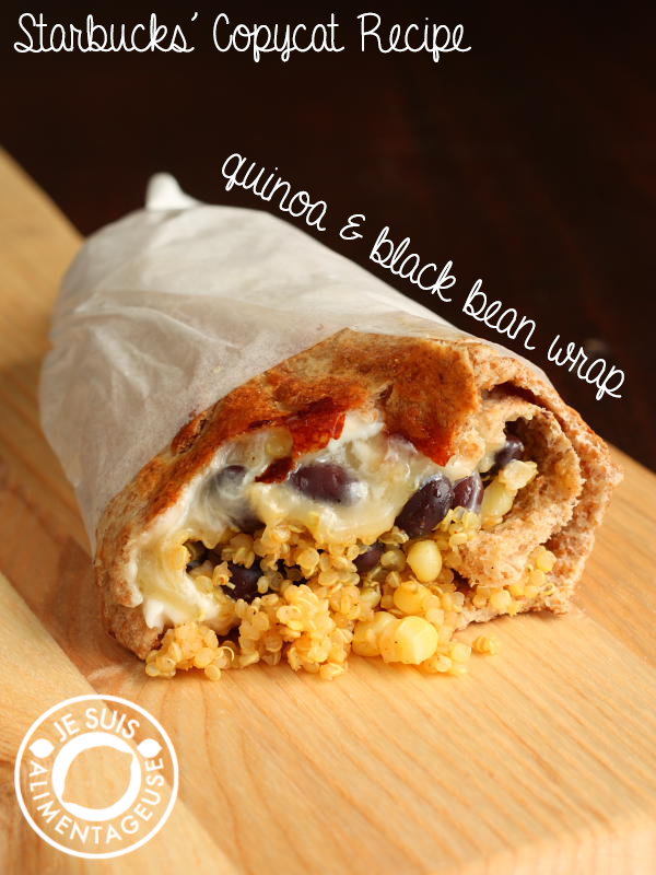 Starbucks Copycat Quinoa and Black Bean Wrap