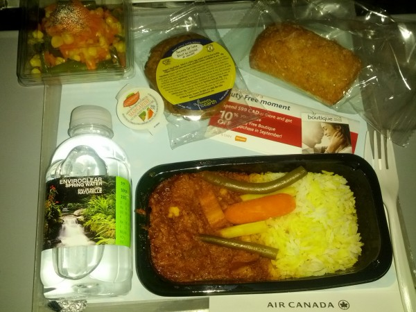 Air Canada Dinner - Vegan | alimentageuse.com