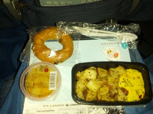 Air Canada Breakfast - Vegan | alimentageuse.com