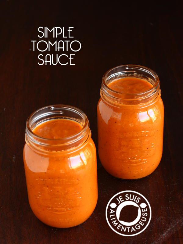 Simple Tomato Sauce | alimentageuse.com #vegan #garden #glutenfree #GF