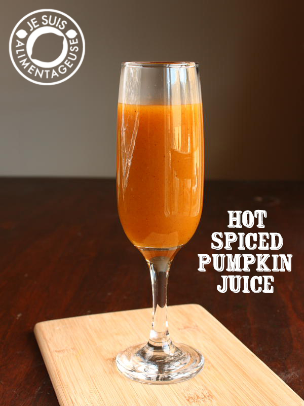 Hot Spiced Pumpkin Juice | alimentageuse.com #fall #pumpkin #harrypotter