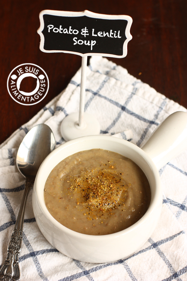 Potato and Lentil Soup | alimentageuse.com | #soup #fall #potato #lentil #protein