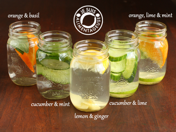 Infused Water Ideas | alimentageuse.com #water #hydration #healthy