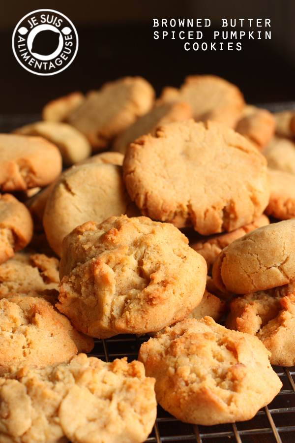 Browned Butter Spiced Pumpkin Cookies and Cookie Experiments