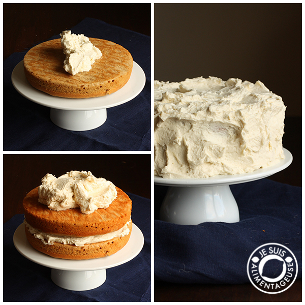Pumpkin Apple Spice Cake with Ermine Frosting | alimentageuse.com | #pumpkin #spice #fall #vegan