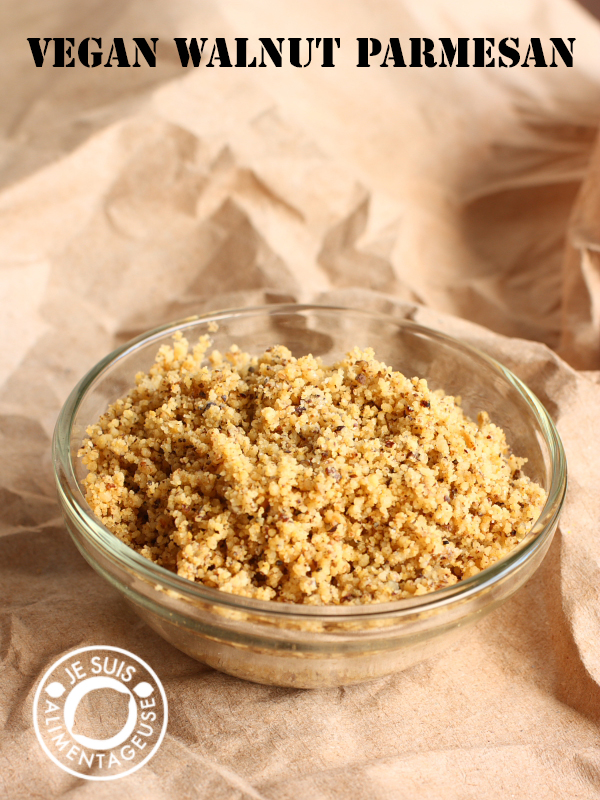 "#Vegan walnut parmesan - ""cheesy"" flavour with some extra goodness from walnuts!"