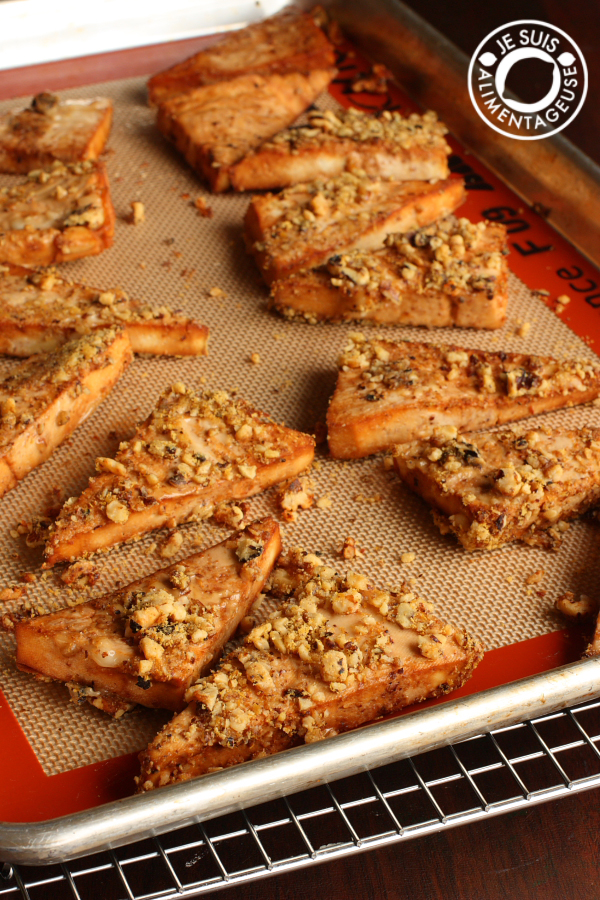 Walnut Crusted Tofu | thevietvegan.com | #vegan #dinner #tofu