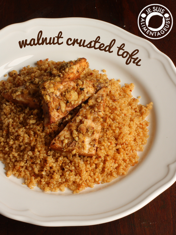 Walnut Crusted Tofu | alimentageuse.com | #vegan #dinner #tofu