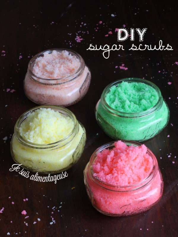 #DIY Sugar Scrubs - Jojoba and Coconut oil are great for nourishing the skin while you exfoliate! Makes a great gift =)