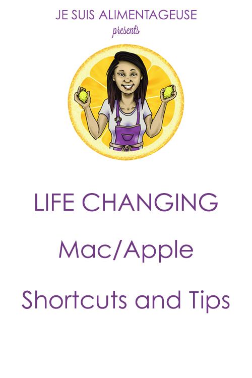 Blog Design Series: Life Changing Mac Shortcuts and Tips! Your blog won't know what hit it with all the shortcuts you learn.| alimentageuse.com #blogging #Mac #Apple #lifehacks