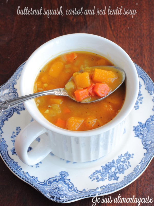 Butternut Squash Carrot and Red Lentil Soup