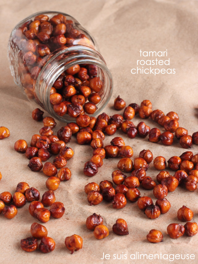 Tamari Roasted Chickpeas #appetizerweek #vegan #glutenfree