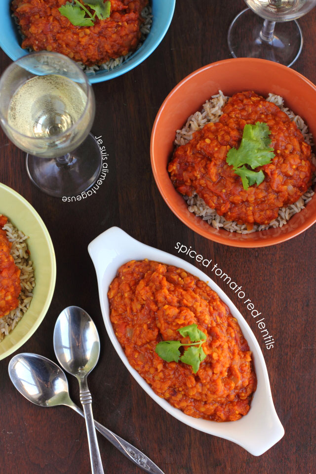 Spiced Tomato Red Lentils - The Viet Vegan