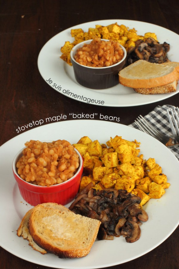 """Stovetop Maple """"Baked"""" Beans"""