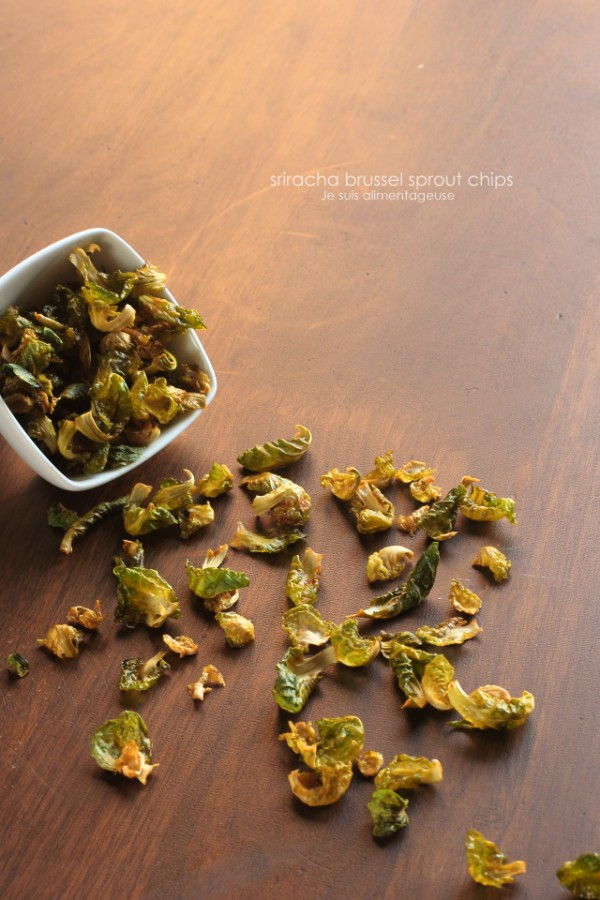 Sriracha Brussels Sprout Chips