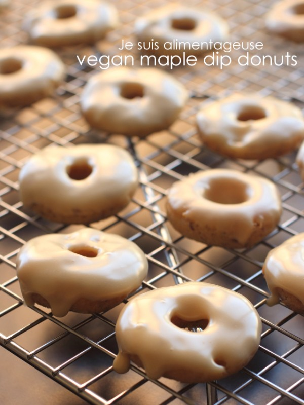 Vegan Maple Dip Donuts