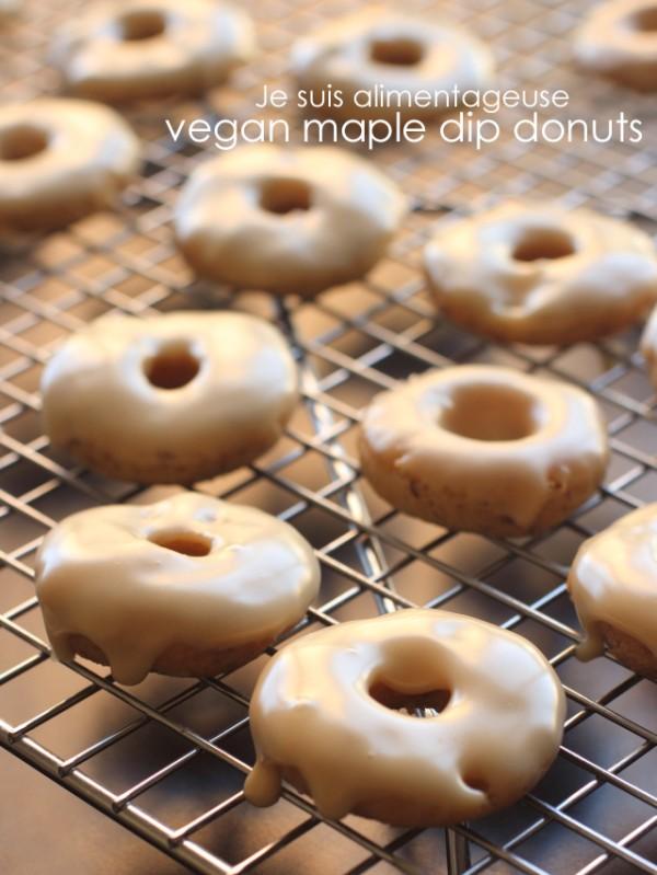 Vegan Maple Dip Donuts