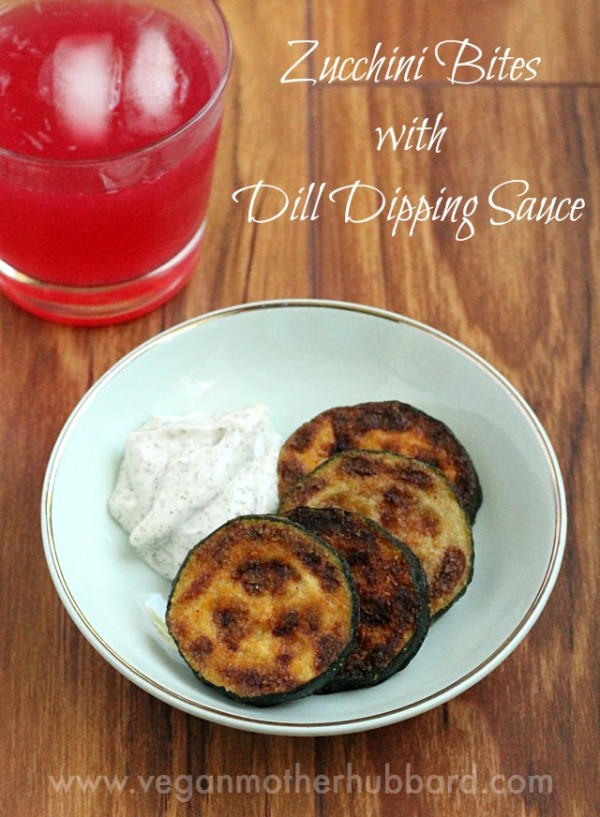 Guest Post: Zucchini Bites with Dill Dipping Sauce