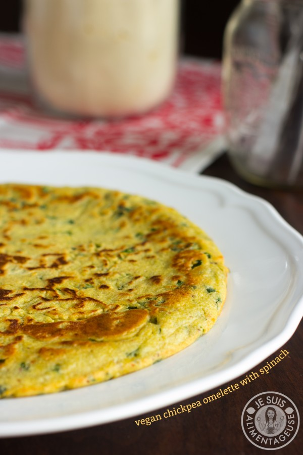 Vegan Chickpea Omelette with Spinach