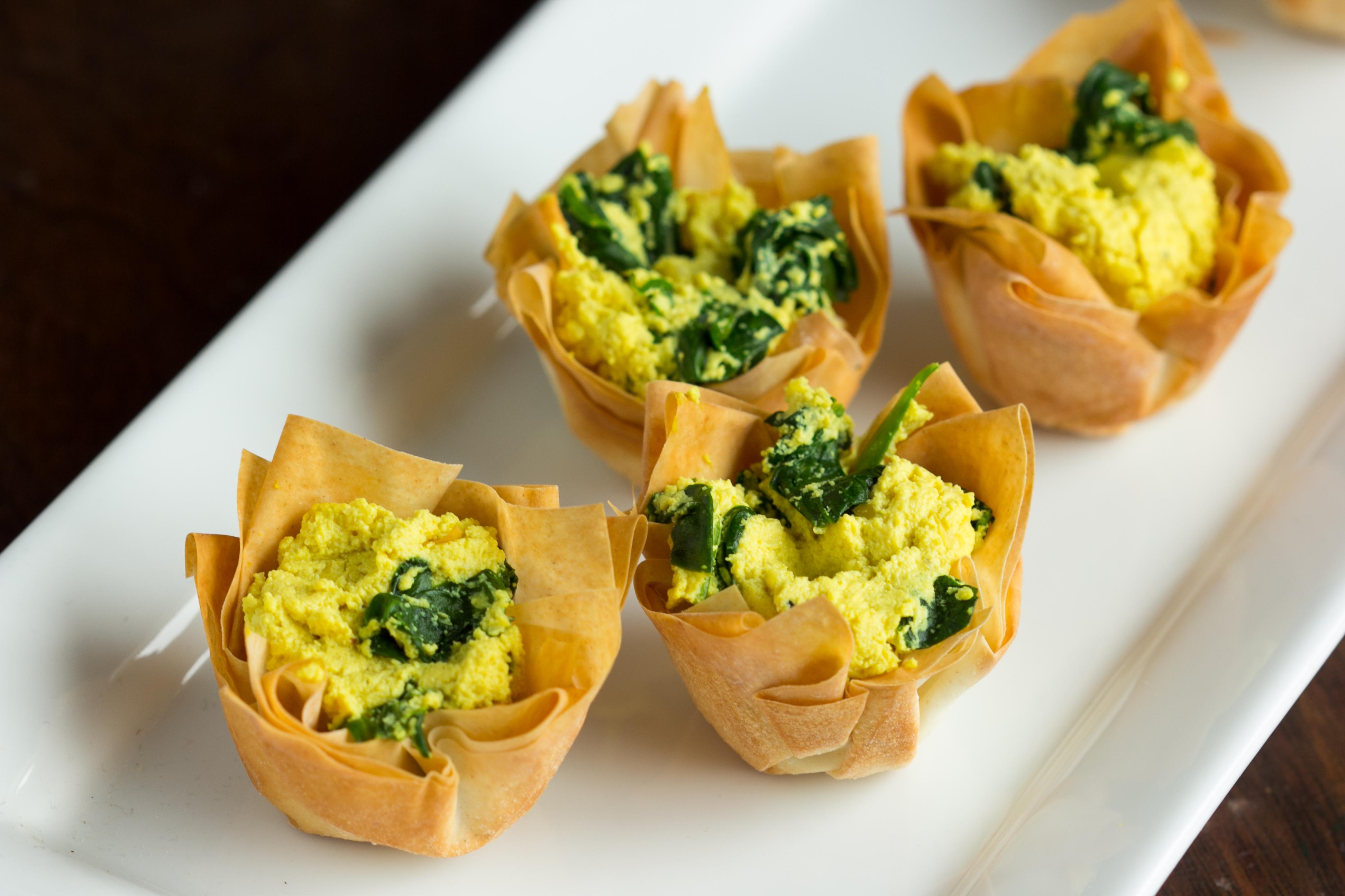 Spinach Tofu Quiche Cups - The Viet Vegan