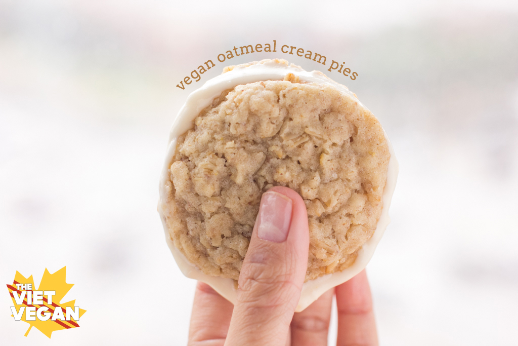 Vegan Oatmeal Cream Pies | The Viet Vegan
