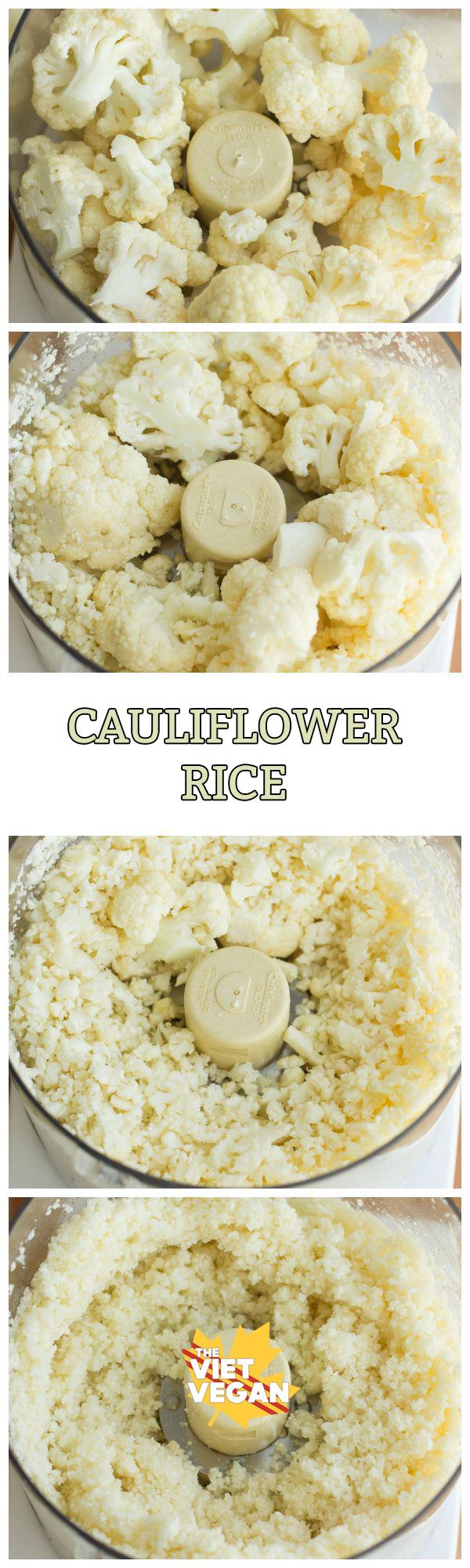 Cauliflower Rice | The Viet Vegan