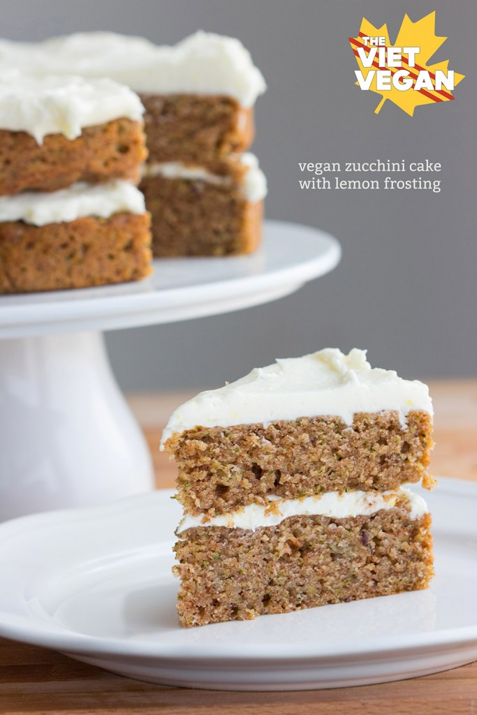 Vegan Zucchini Cake with Lemon Frosting