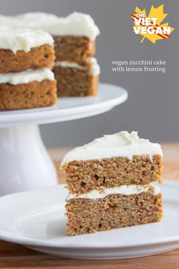 Vegan Zucchini Cake with Lemon Frosting