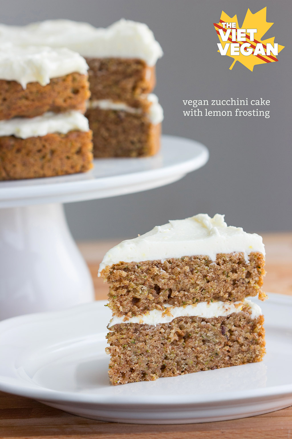 Vegan Zucchini Cake with Lemon Frosting - The Viet Vegan