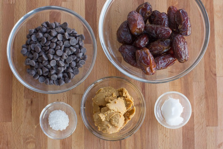 Peanut Butter Stuffed Dates with Chocolate and Sea Salt