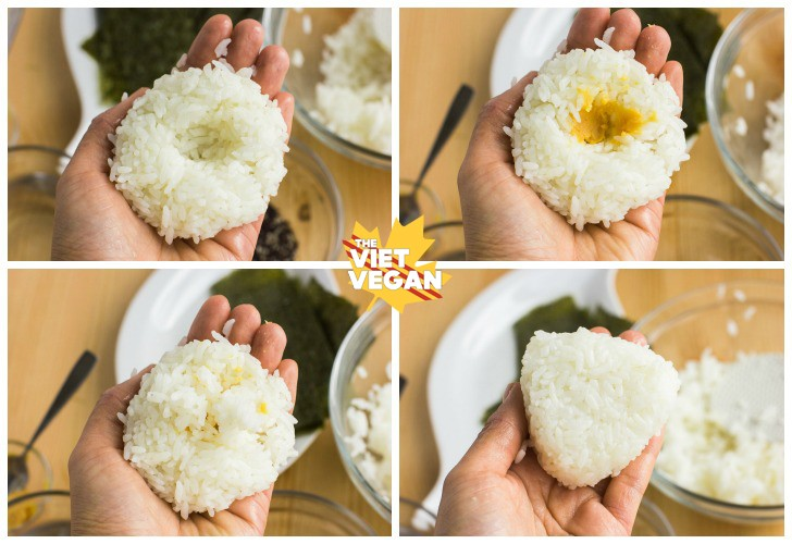 "Vegan Miso Dulse Onigiri | The Viet Vegan | Japanese versions of ""sandwiches"", onigiri are stuffed rice triangles"