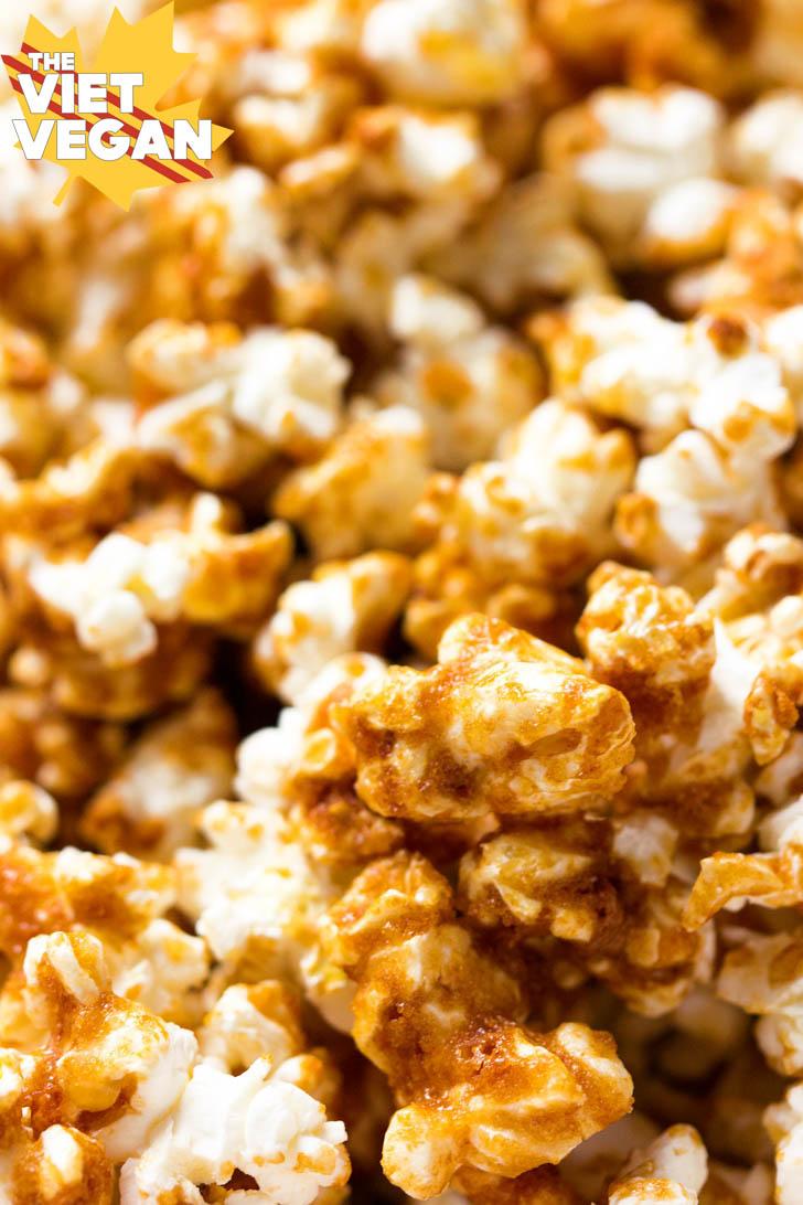 Vegan Caramel Popcorn | The Viet Vegan