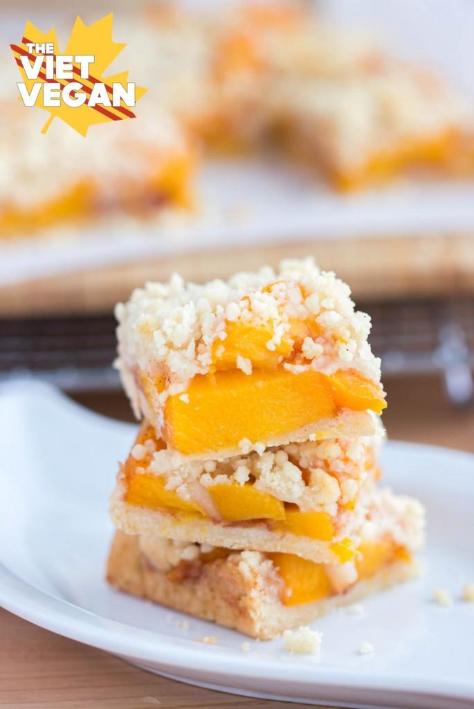 Extra Peachy Peach Crumb Bars
