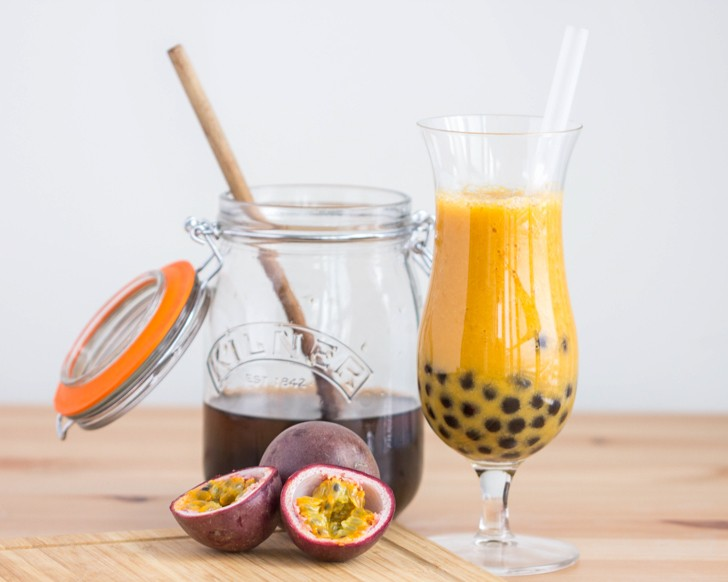 Passionfruit Mango Bubble Tea | The Viet Vegan