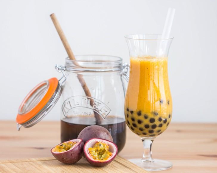 Passionfruit Mango Bubble Tea | The Viet Vegan