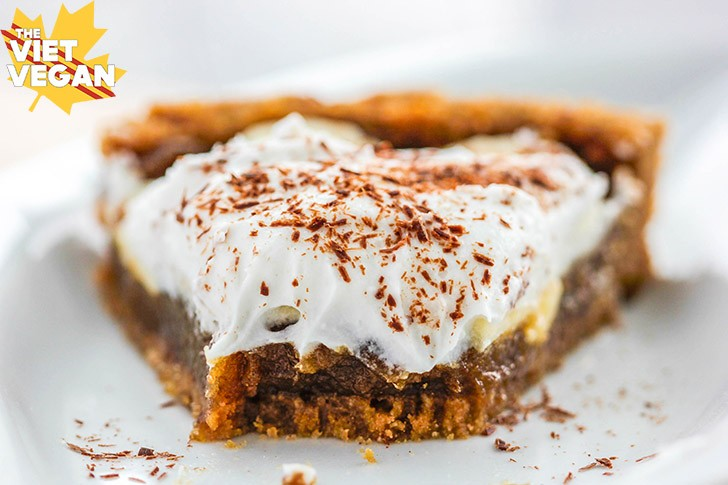 Vegan Banoffee Pie | The Viet Vegan