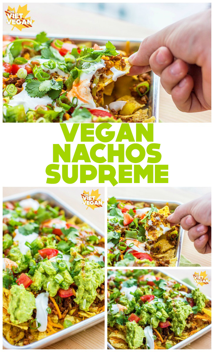 VEGAN NACHOS SUPREME | The Viet Vegan | For those late night cravings, but HEALTHIER!