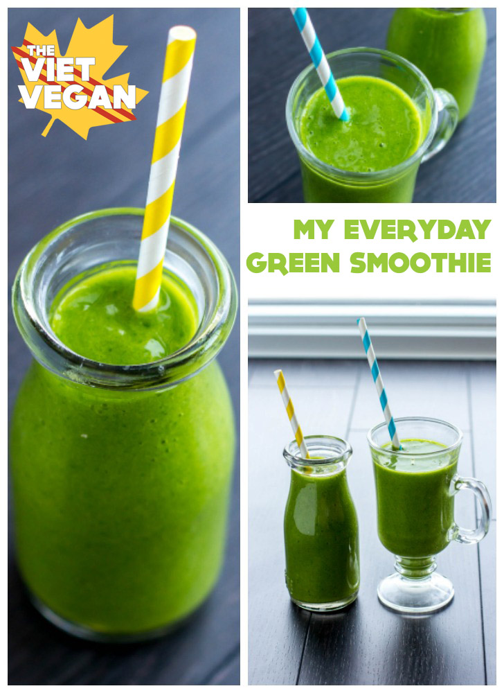 Easy, Creamy, Green Smoothie | The Viet Vegan | Superstart your day with greens and plant-based goodness!