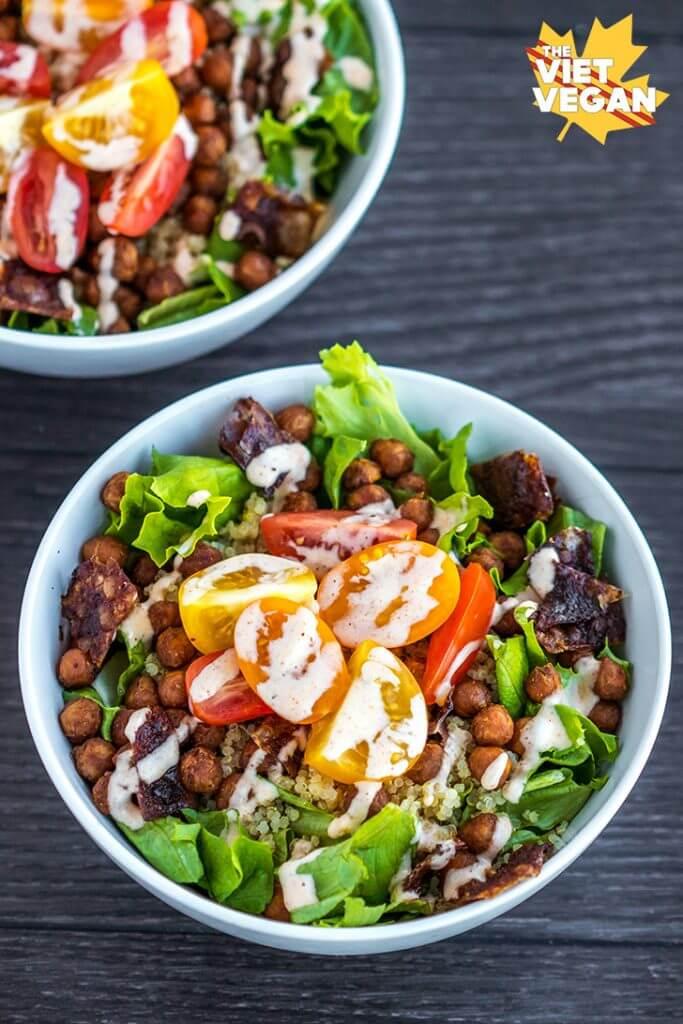 Vegan BLT Quinoa Bowls